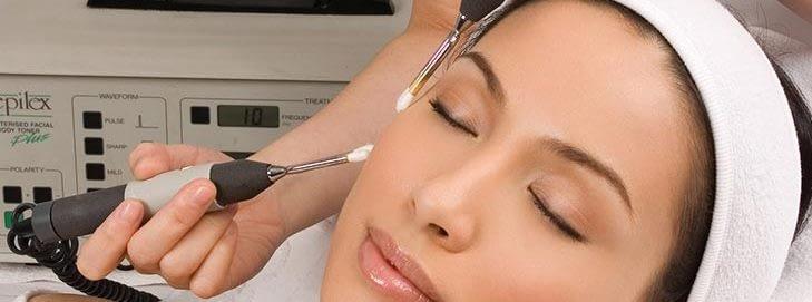 girl having a facial treatment