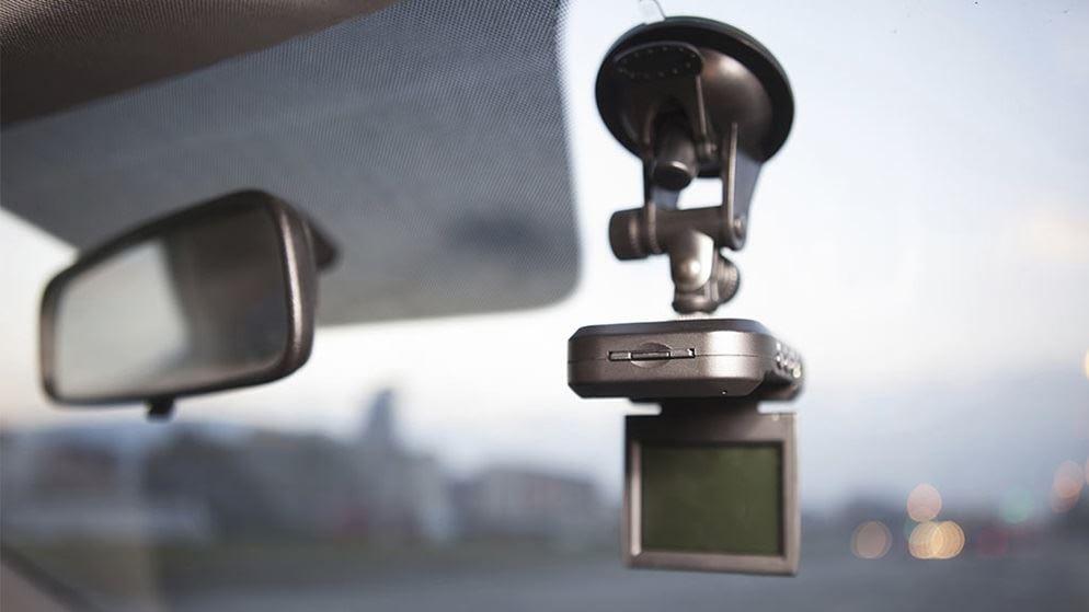 dashboard camera of a car