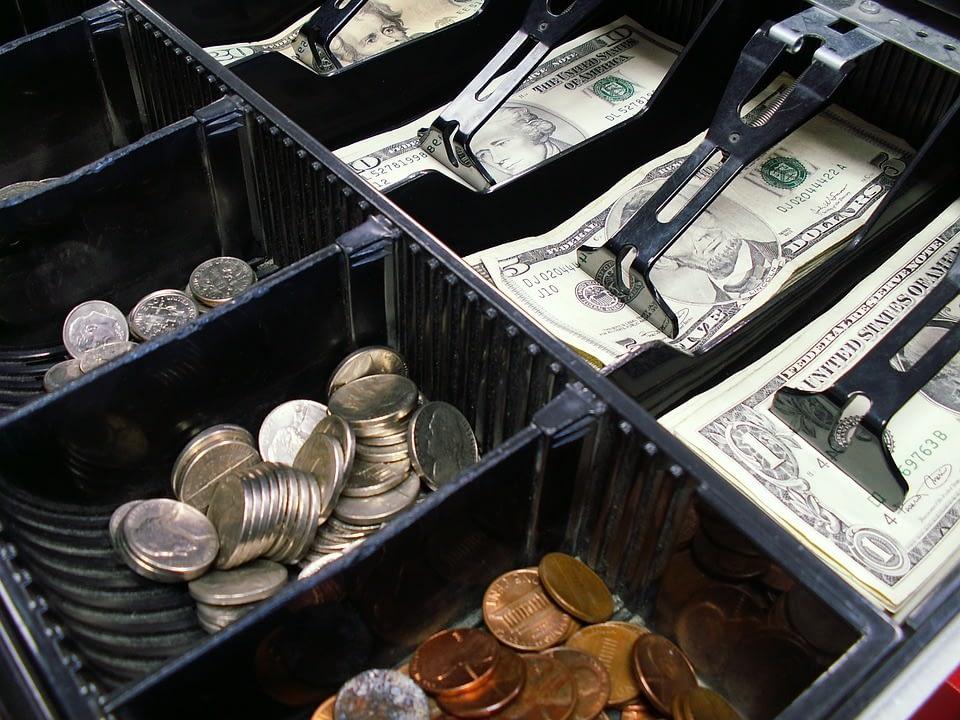 cash drawer full of money