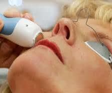lady having a facial care